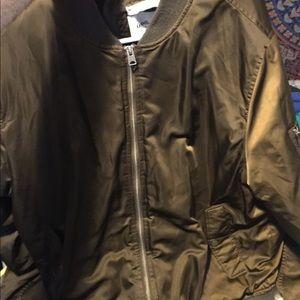 Goodfellow & Co Jackets & Coats - Shiny Brown Bomber Jacket